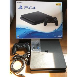 プレイステーション4(PlayStation4)の【美品】PS4 本体(家庭用ゲーム機本体)