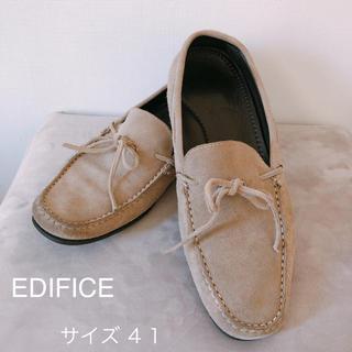 エディフィス(EDIFICE)のエディフィス スエードスリッポン 破格!!(スリッポン/モカシン)
