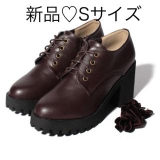 ナイスクラップ(NICE CLAUP)の新品♡定価5390円 ナイスクラップ お洒落な厚底シューズ 茶色 S 22.5(ローファー/革靴)