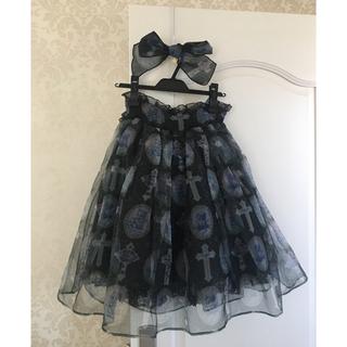 アンジェリックプリティー(Angelic Pretty)のミルキーベアのスカートとヘドレ(ひざ丈スカート)