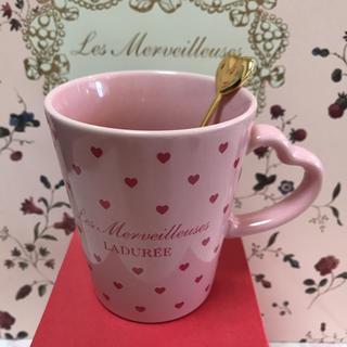 レメルヴェイユーズラデュレ(Les Merveilleuses LADUREE)のラデュレ♡大人気 マグカップ&スプーン(マグカップ)