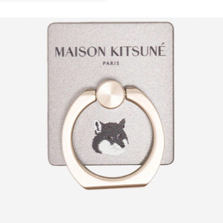 メゾンキツネ(MAISON KITSUNE')のメゾンキツネ スマホリング シルバー(その他)