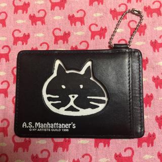 エーエスマンハッタナーズ(A.S.Manhattaner's)のパスケース⭐️A.S.Manhattaner's  ⭐️黒(パスケース/IDカードホルダー)