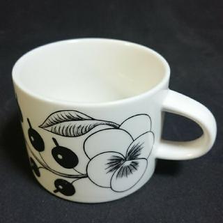 アラビア(ARABIA)のアラビア ブラックパラティッシ コーヒーカップ(グラス/カップ)