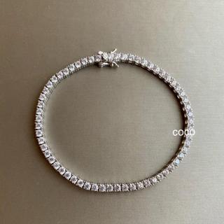 フォクシー(FOXEY)の最高級人工ダイヤモンド テニスブレスレット  18cm SONA 合成(ブレスレット/バングル)