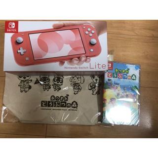 ニンテンドースイッチ(Nintendo Switch)のNintendo Switch Lite コーラル どうぶつの森ソフトセット売(携帯用ゲーム機本体)