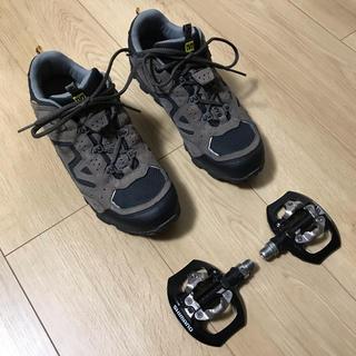 シマノ(SHIMANO)のSPDペダル+MAVICシューズ(26.0センチ)(その他)
