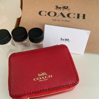 コーチ(COACH)のCoach アクセサリーケース 小物入れ レッド(小物入れ)