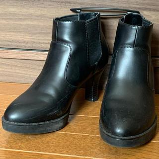 ユニクロ(UNIQLO)のUNIQLO shoes黒23cmサイドゴアブーツ(ブーツ)
