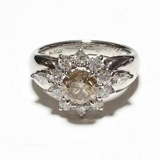【お値下げ致しました!】プラチナ ダイヤモンド リング Pt900(リング(指輪))