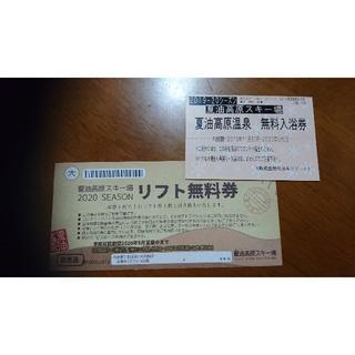 【sssさん用】夏油高原 1日リフト券+温泉(ウィンタースポーツ)
