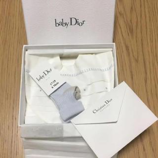 ディオール(Dior)の【専用】ベイビーディオールギフト スタイ&ソックス(ベビースタイ/よだれかけ)
