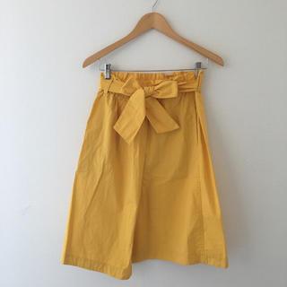 トゥモローランド(TOMORROWLAND)の美品 MACPHEE マカフィー スカート/黄色  36(ひざ丈スカート)