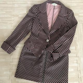デイジーストア(dazzy store)のピンク ストライプ スーツ 9号 9AR PANTOMIME(スーツ)