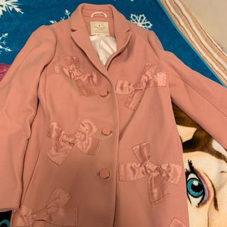 ケイトスペードニューヨーク(kate spade new york)の【新品】♠︎ケイトスペードニューヨーク♠︎ ピンク リボン コート♡(ロングコート)
