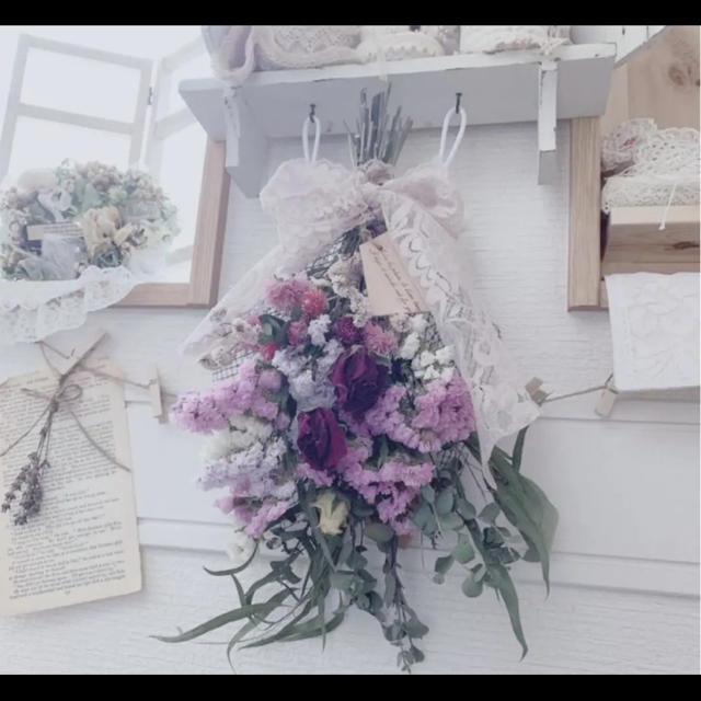 おすすめ ドライフラワー 薔薇のスワッグp6 ハンドメイドのフラワー/ガーデン(ドライフラワー)の商品写真