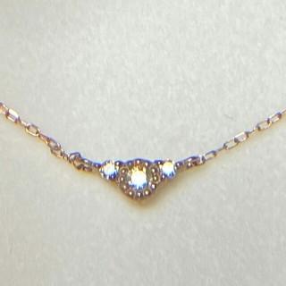 エステルドバルローズ(ESTELLE DE VALROSE)のK10ダイヤモンドネックレス (ネックレス)