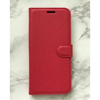 ギャラクシー(Galaxy)の人気商品!シンプルレザー手帳型ケース GalaxyS10Plus レッド 赤(Androidケース)