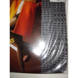 アツギ(Atsugi)の新品 アツギ シャイニーグレンチェック柄 ブラック(レギンス/スパッツ)