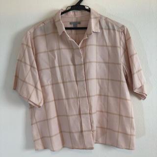 コス(COS)のCOS 半袖チェックシャツ(シャツ/ブラウス(半袖/袖なし))