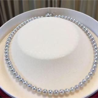 【超美珠】あこや真珠 グレーパール ネックレス (ネックレス)