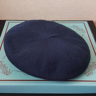 ジーユー(GU)のベレー帽 ネイビー(ハンチング/ベレー帽)