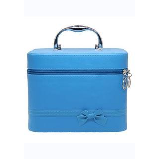 【新品未使用】メイクボックス 大容量 ブルー(メイクボックス)