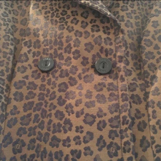 FENDI(フェンディ)のFENDI  マーク入りレオパード柄ロングコート レディースのジャケット/アウター(ロングコート)の商品写真