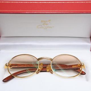 カルティエ(Cartier)のCARTIER カルティエ 木 135b 51□20 ウッドフレーム 超希少眼鏡(サングラス/メガネ)