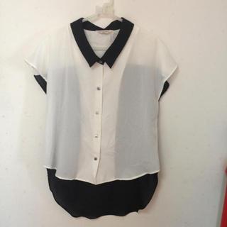 ダブルネーム(DOUBLE NAME)のバイカラーシャツ(シャツ/ブラウス(半袖/袖なし))