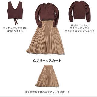 アンデミュウ(Andemiu)のアンデミュウ 貴島明日香コラボ ニット×スカートSET UP(セット/コーデ)