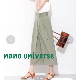 ナノユニバース(nano・universe)の美品*nano universeナノユニバースⅮカンベルトラップパンツ(クロップドパンツ)