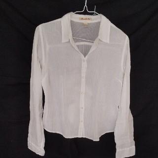 アバクロンビーアンドフィッチ(Abercrombie&Fitch)のAbercrombie&Fitch アバクロ ホワイトシャツ(シャツ/ブラウス(長袖/七分))