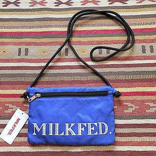 ミルクフェド(MILKFED.)のMILKFED. ミルクフェド サコッシュ 斜め掛け バッグ 軽量 青(ショルダーバッグ)