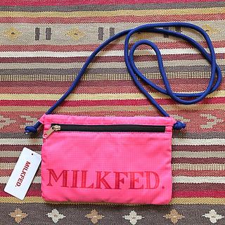 ミルクフェド(MILKFED.)のMILKFED. ミルクフェド サコッシュ 斜め掛け バッグ 軽量 ピンク(ショルダーバッグ)