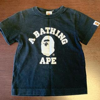アベイシングエイプ(A BATHING APE)のAPE 半袖Tシャツ 100cm 古着 送料無料(Tシャツ/カットソー)