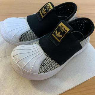 アディダス(adidas)のadidas キッズ ジュニア スリッポン14.5cmメッシュ(スリッポン)