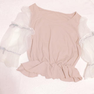 イートミー(EATME)の袖シースルーリボントップス モンリリィ(カットソー(長袖/七分))