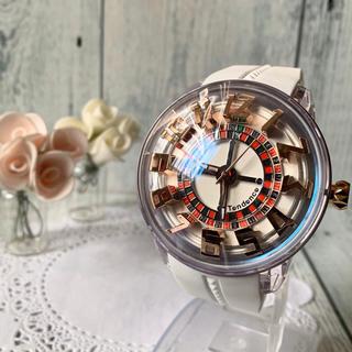 テンデンス(Tendence)の【未使用】Tendence テンデンス キングドーム ホワイト 腕時計 ぐるぐる(腕時計(アナログ))