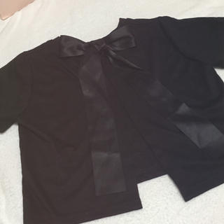 イートミー(EATME)のバックリボントップス ワンスポ(Tシャツ(半袖/袖なし))