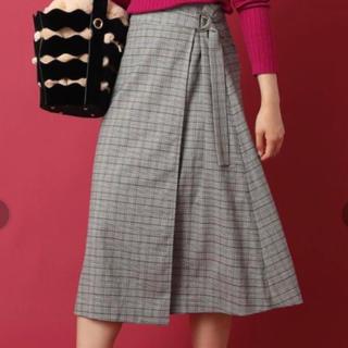 アンレリッシュ(UNRELISH)のUNRELISH 柄ロング巻きスカート ロングスカート(ロングスカート)
