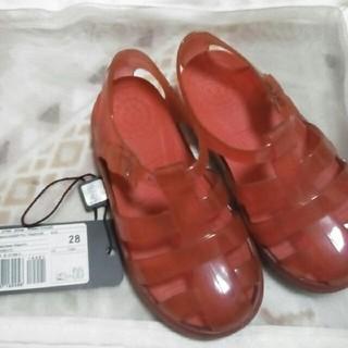 ドルチェアンドガッバーナ(DOLCE&GABBANA)のドルチェ&ガッバーナの赤いサンダル17cm ビニール(サンダル)