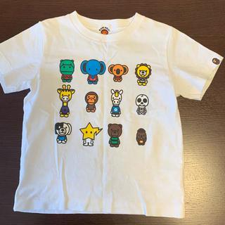 アベイシングエイプ(A BATHING APE)のAPE 半袖Tシャツ 110cm 古着 送料無料(Tシャツ/カットソー)