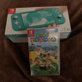 Nintendo switch lite ターコイズ本体とどうぶつの森 セット(家庭用ゲーム機本体)
