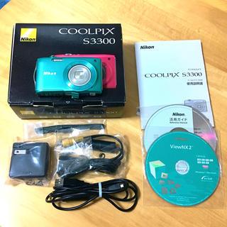ニコン(Nikon)のCOOLPIX S3300 ミントグリーン(コンパクトデジタルカメラ)