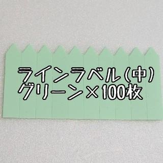 ◎100枚◎ 小 選べるカラー ラインラベル 園芸ラベル カラーラベル(その他)
