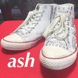 ASH - ash アッシュ スタッズ レザー スニーカー
