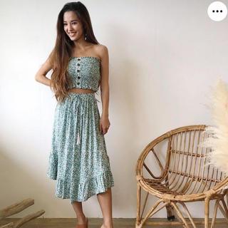 シールームリン(SeaRoomlynn)のturquoise blue co 新品未使用完売商品(ひざ丈スカート)