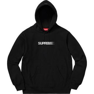 シュプリーム(Supreme)のSupreme Motion Logo シュプリーム モーションロゴ パーカー黒(パーカー)