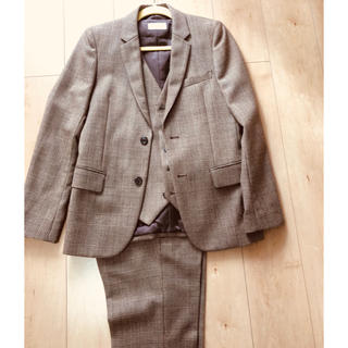 イチミリ(ichi-miri)のICHI−MIRI スリーピース スーツ  ブラウン チェック(セットアップ)